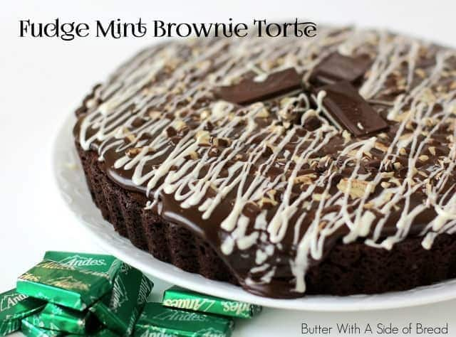FUDGE MINT BROWNIE TORTE: Butter With A Side of Bread