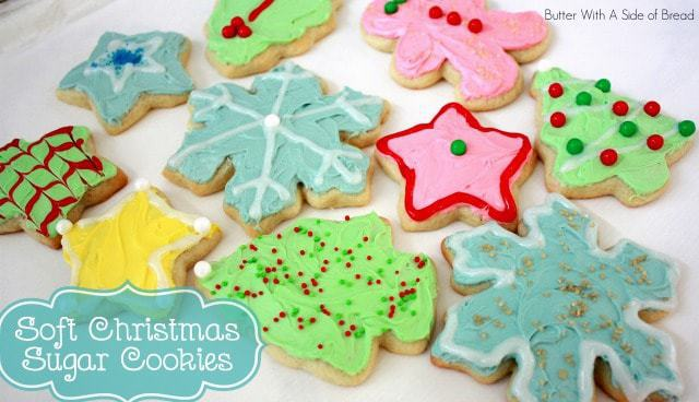 Christmas Sugar Cookies are a holiday tradition at our house! The kids love to decorate them plus they are so soft and delicious everyone loves to eat them!