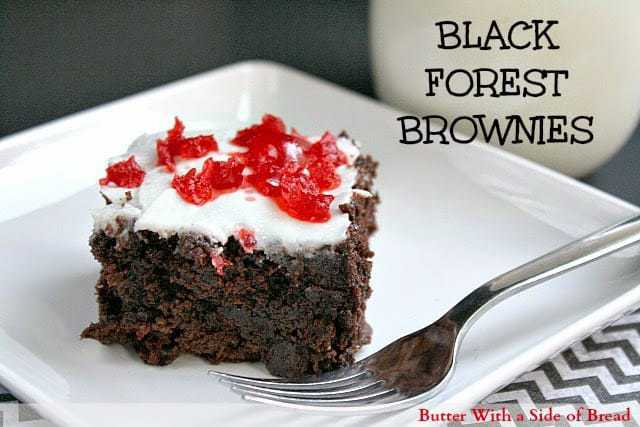 Butter With a Side of Bread: Easy Black Forest Brownies