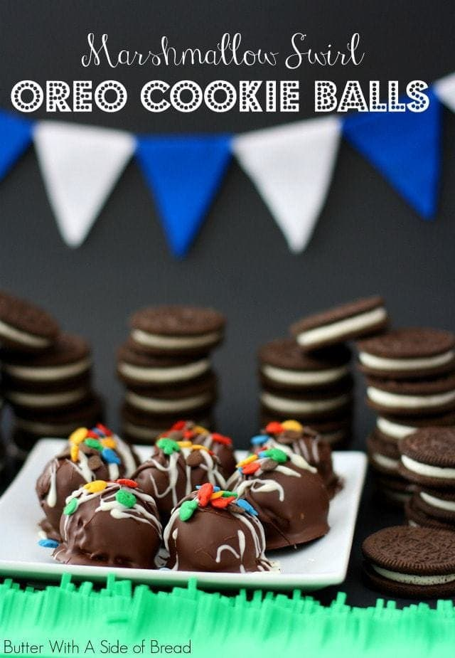 Marshmallow Swirl OREO Cookie Balls. Butter With A Side of Bread