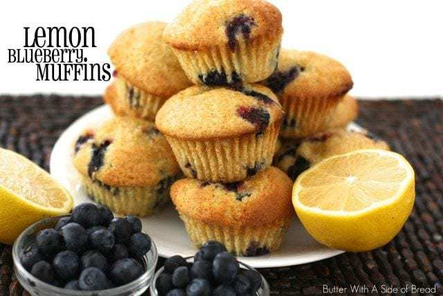 Lemon Blueberry Muffins ~ Butter With A Side of Bread