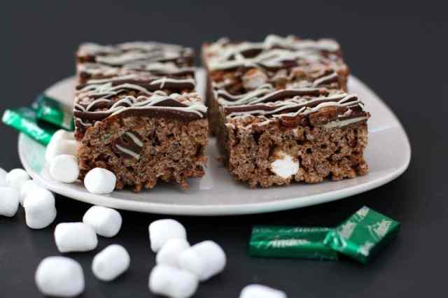 MINT CHOCOLATE KRISPIE TREATS: Butter With A Side of Bread