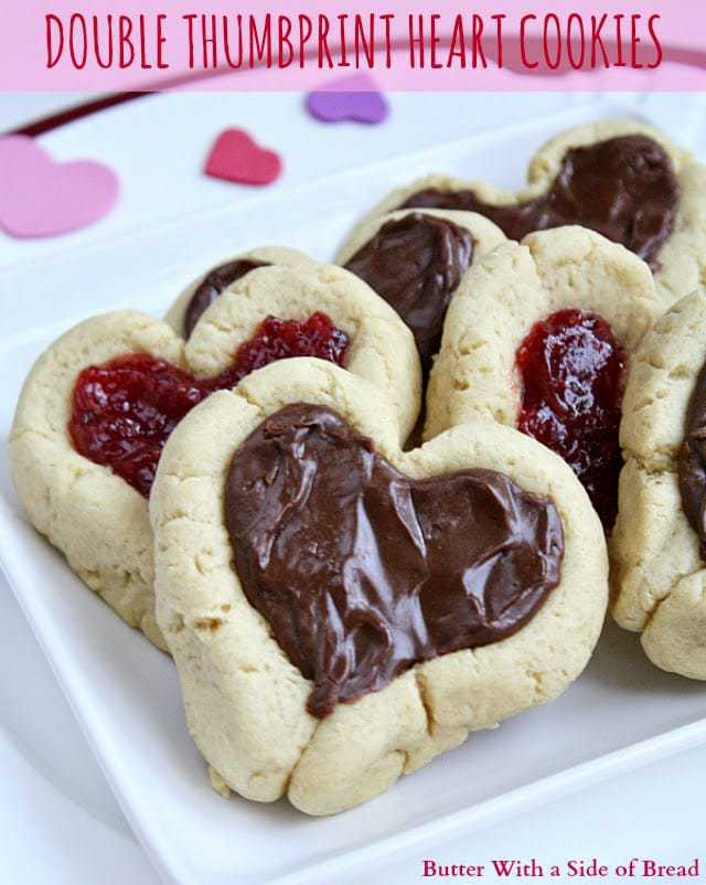 Butter With a Side of Bread: Double Thumbprint Heart Cookies