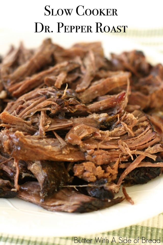 Slow Cooker Dr. Pepper Roast is easy to make, so tender, and full of delicious flavor - it's the perfect roast for any occasion!