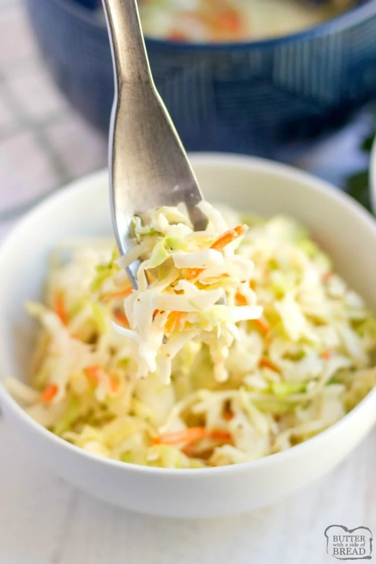 Kfc Coleslaw Recipe Butter With A Side Of Bread