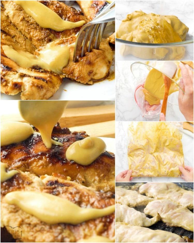 how to make grilled honey mustard chicken
