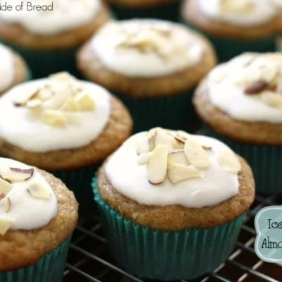 ICED BANANA ALMOND MUFFINS