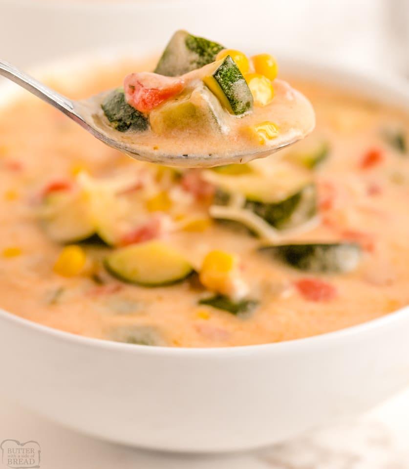 Best Garden Zucchini Corn Chowder recipe