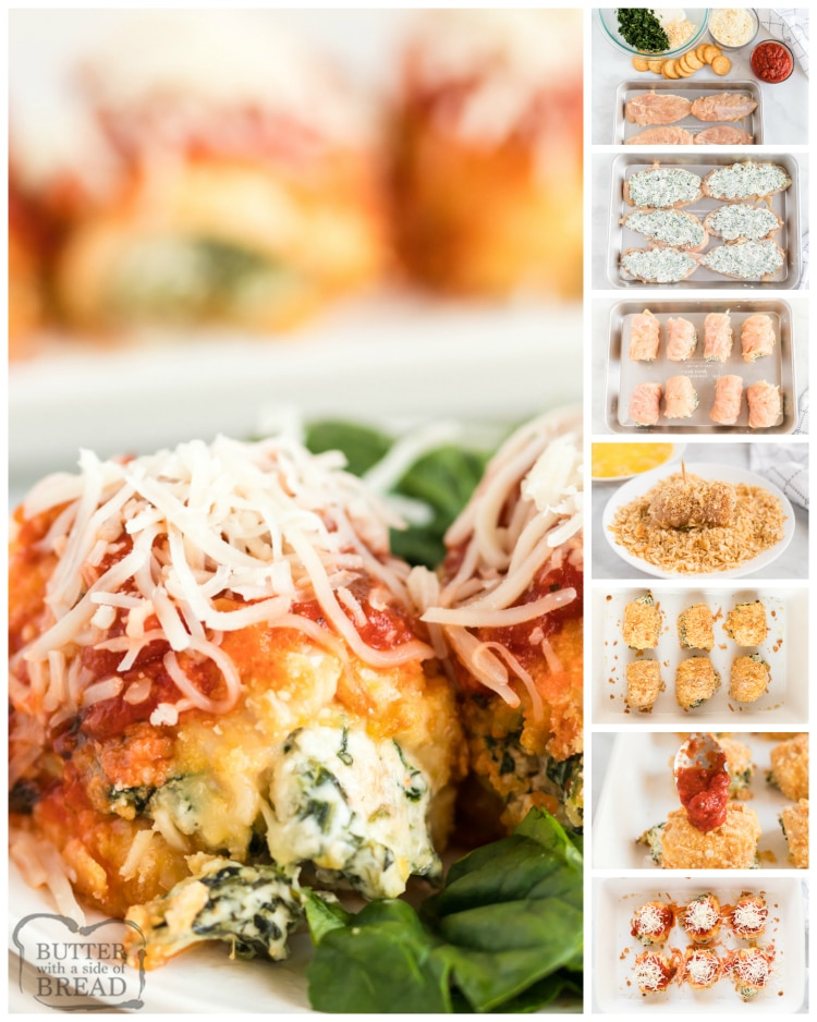 Step by step instructions on how to make Baked Chicken Parmesan Bundles