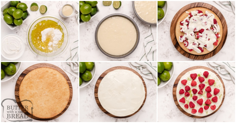 How to make a lime flavored layer cake