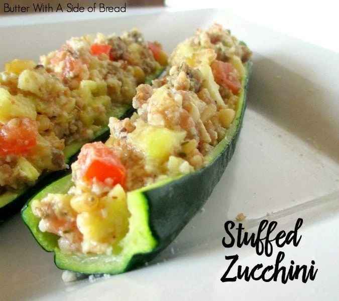 Easy Stuffed Zucchini - Butter With A Side of Bread