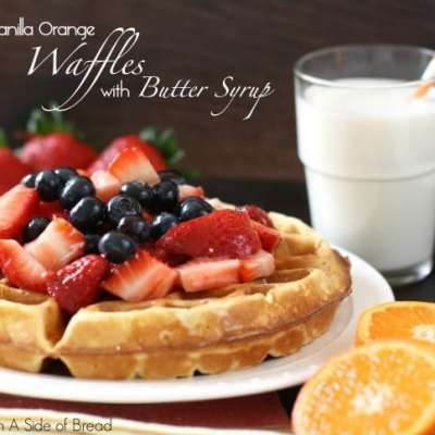 VANILLA ORANGE WAFFLES with BUTTER SYRUP {+ MORE of the BEST WAFFLE RECIPES}