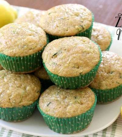 Lemon Zucchini Muffins - Butter With A Side of Bread