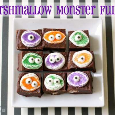 MARSHMALLOW MONSTER FUDGE