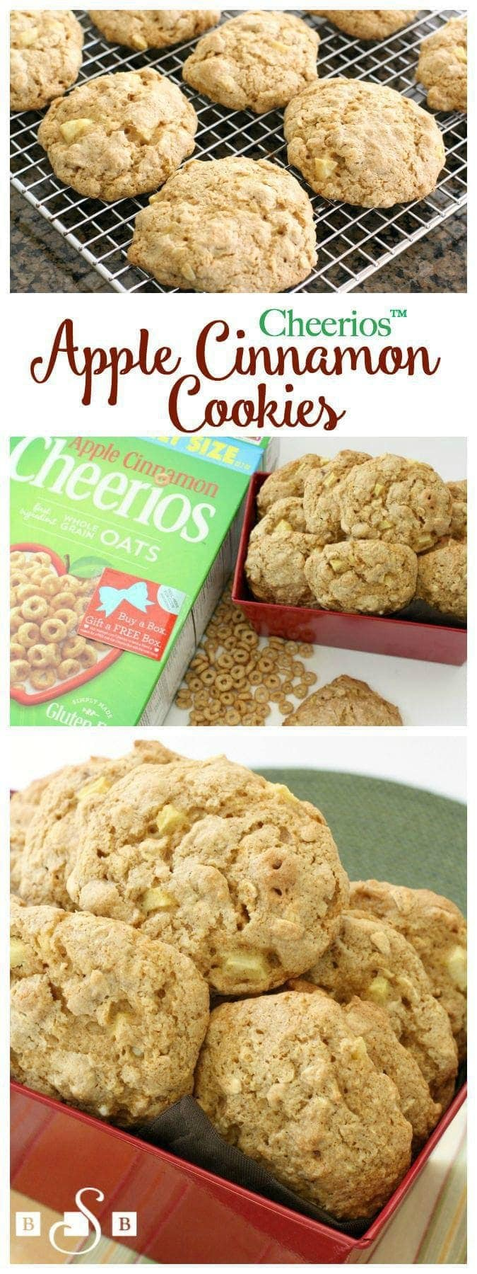 Cheerios™ Apple Cinnamon Cookies - #GiveABox - Butter With A Side of Bread