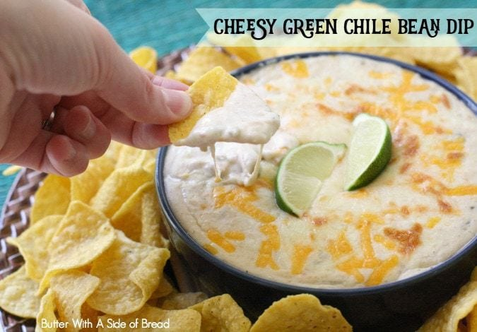 Cheesy Green Chile Bean Dip - Butter With A Side of Bread