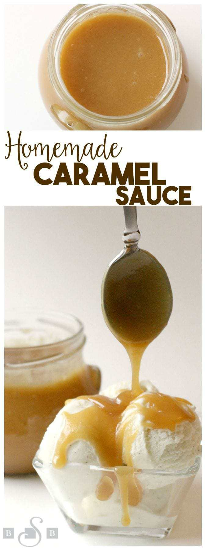 This recipe for caramel sauce has been in my husband's family for as long as I've known them. This recipe is the real deal- heavycream and butter give it a delicious flavor that's irresistible.It's not difficult to make and there's no candy thermometer required. It's perfect drizzled over ice cream, on top of cakes, cookies- you name it! This caramel sauces firms up when cool, so it's also great for coating pretzels, apples, etc.