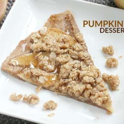 PUMPKIN APPLE DESSERT PIZZA #Bakers13