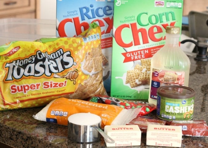 Holiday Chex Mix is a classic favorite, and you can't ever go wrong when you combine cereal, chocolate, nuts, and coconut!
