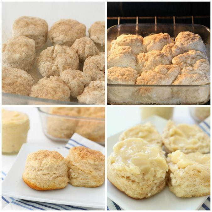 Cinnamon Biscuits with Honey Butter - Butter With A Side of Bread