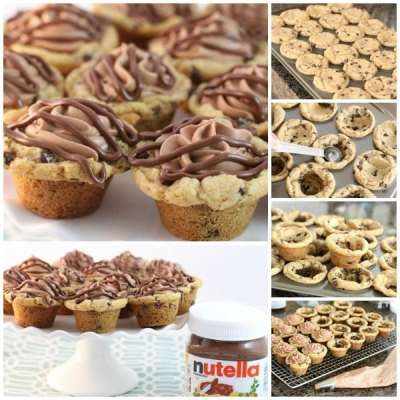 NUTELLA MOUSSE COOKIE CUPS
