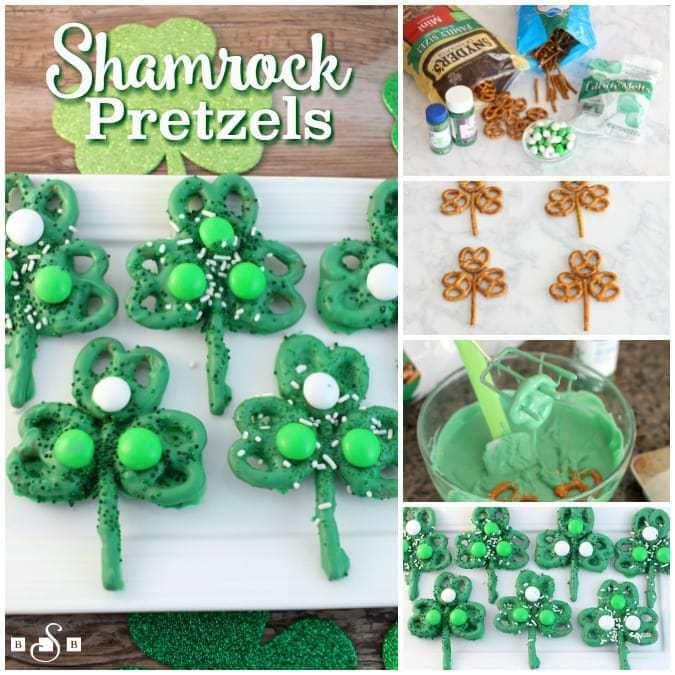 easy shamrock pretzels
