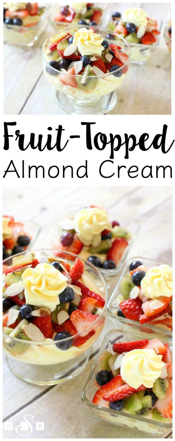 Fruit Topped Almond Cream - Butter With A Side of Bread