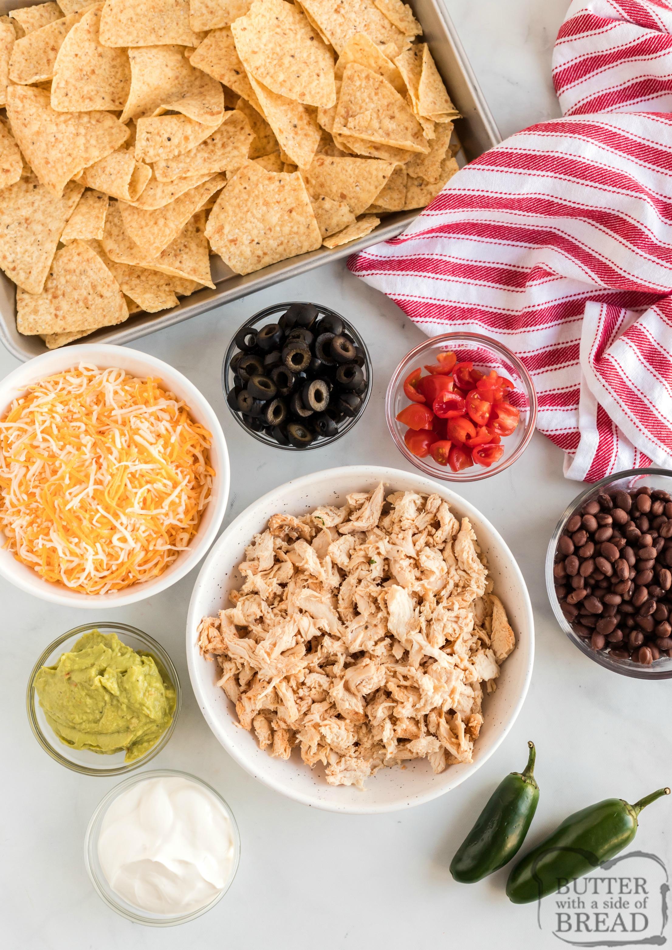 Ingredients in Chicken Nachos