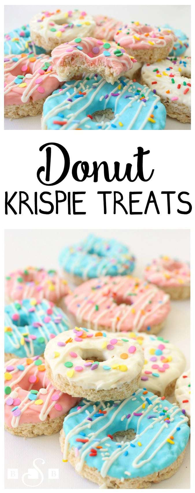 I saw these darling treats at a specialty kitchen store recently and know I had to make them at home. Aren't they so cute?! My kids about fell over when they saw them! They're super simple to make and taste amazing. I mean, c'mon- you're covering a buttery- marshmallow treat with chocolate and sprinkles- it HAS to taste good!