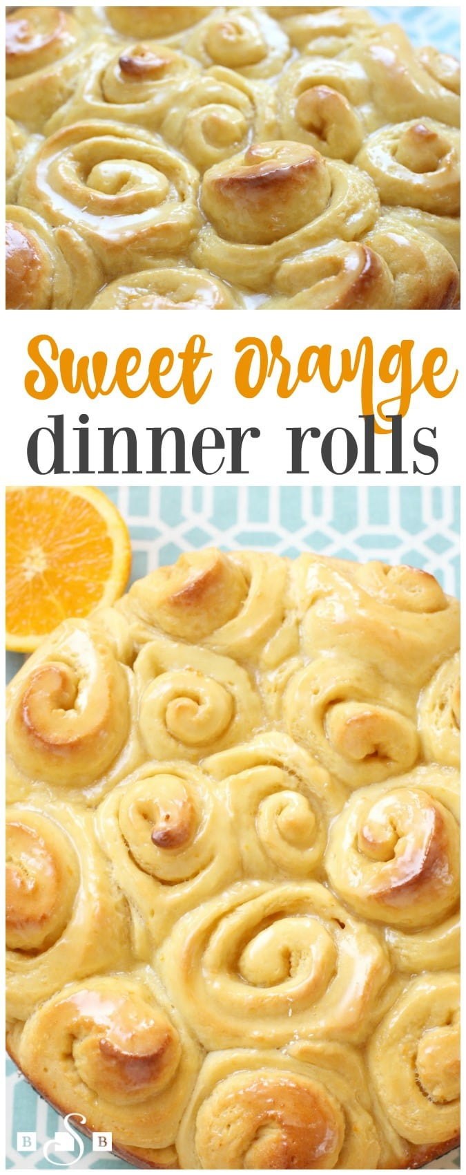 Sweet Orange Dinner Rolls are incredible homemade rolls with a bright, fresh orange flavor. Easy recipe for lightly glazed and perfectly sweet dinner rolls!