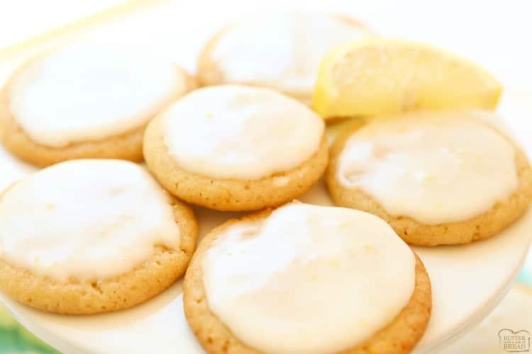 Finished lemon cookies