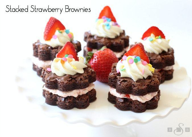 Stacked Strawberry Brownies - Butter With A Side of Bread