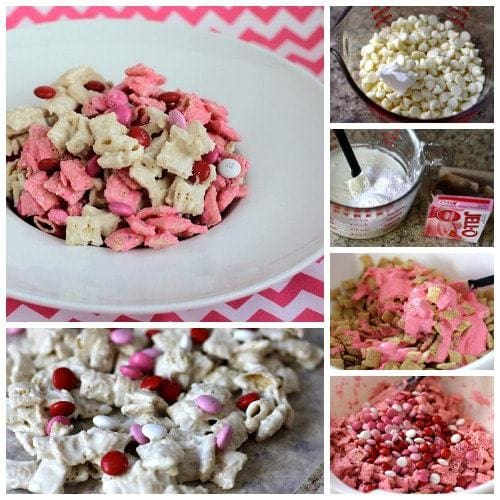 Strawberry Valentines Chex Mix - Butter With A Side of Bread