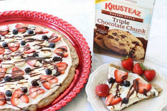 Cookie Pizza - Butter With A Side of Bread