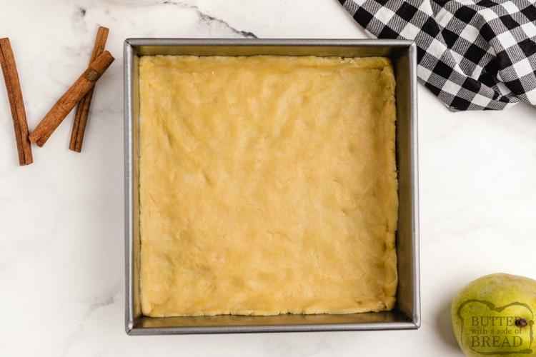 Crust in pear cobbler recipe