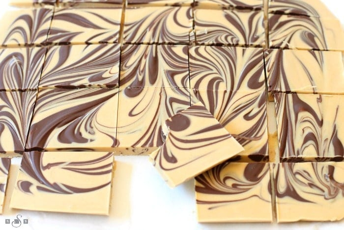 Tiger Butter made from 3 ingredients that are melted & swirled together. Gorgeous holiday candy recipe with great peanut butter chocolate flavor.
