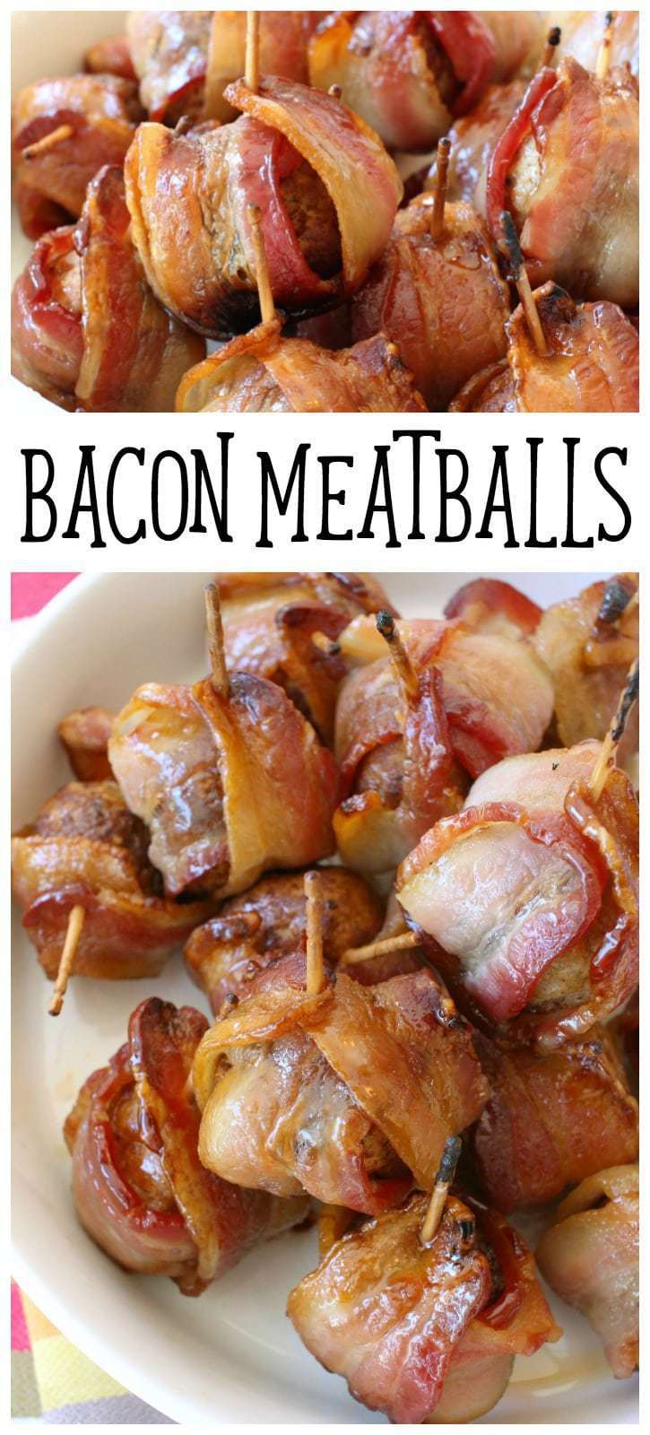 Bacon Meatball appetizers made with just 3 ingredients and unbelievably good flavor! Quick and easy appetizer recipes perfect for parties.