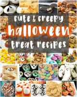 These cute & creepy Halloween treatsare perfect for parties! Cute, creepy, spooky and DELICIOUS! Here are all the Halloween treats you need to make this Halloween one to remember!