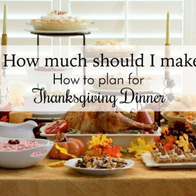 Thanksgiving Dinner: A Guide to Planning How Much Food to Make