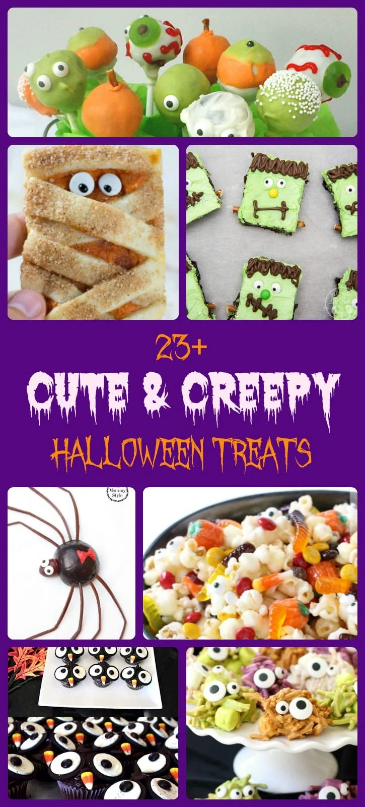 Halloween treats perfect for parties! Cute, creepy, spooky and DELICIOUS! Here are 23+ Halloween Treats you need to make this fall!Fun #Halloween #recipes from Butter With A Side of Bread