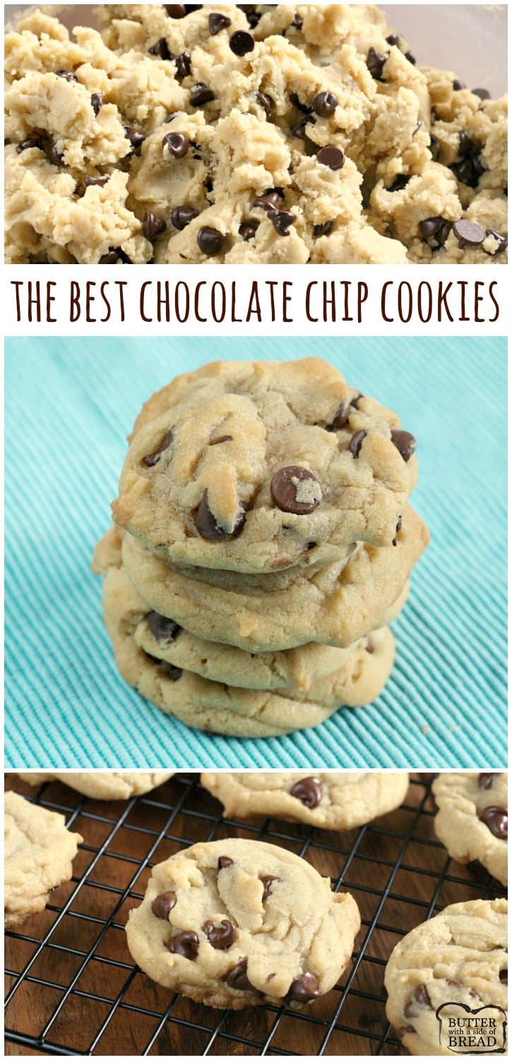 The best Chocolate Chip Cookies are soft, chewy and easy to make too! Tried & true, this is our all-time family favorite Chocolate Chip Cookie recipe ever.