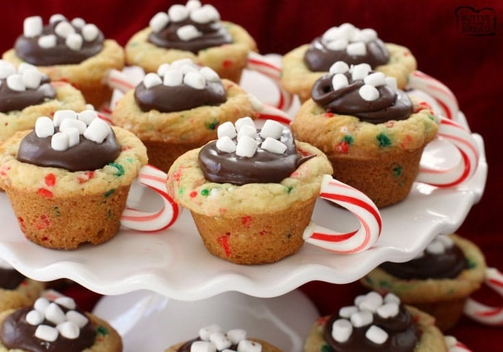 30673159da2 Hot Chocolate Cookie Cups are the most fun   festive Christmas cookies  ever! Sugar cookie