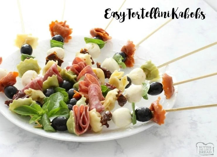 Easy Tortellini Kabobs - Butter With A Side of Bread
