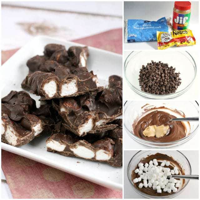 Chocolate Peanut Butter Marshmallow Bark - Butter With a Side of Bread