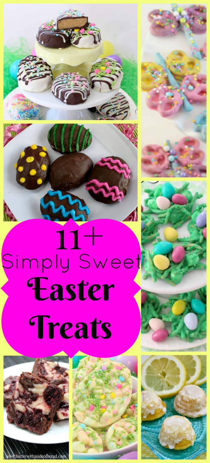 A great list of simple, easy & delicious dessert recipes for Easter! Spring recipe ideas from Butter With A Side of Bread