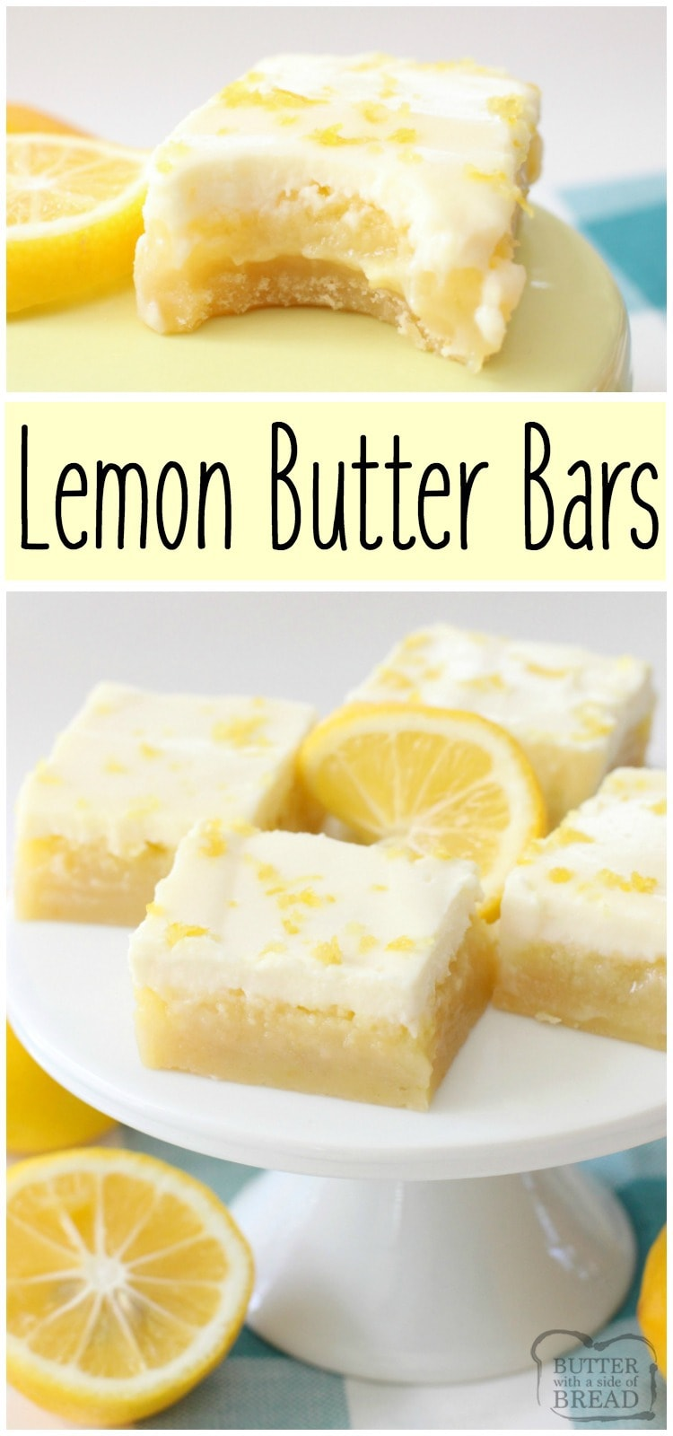 Lemon Butter Bars are simple to make, and everyone who tries them will love the three refreshing layers of bright, sweet flavor!