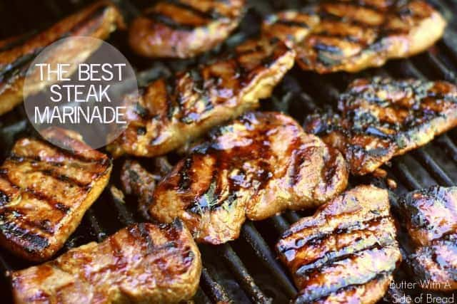 Steak marinade for the best steak of your life! Made with soy sauce, brown sugar, olive oil, ginger and garlic; you'll never taste a better steak marinade!