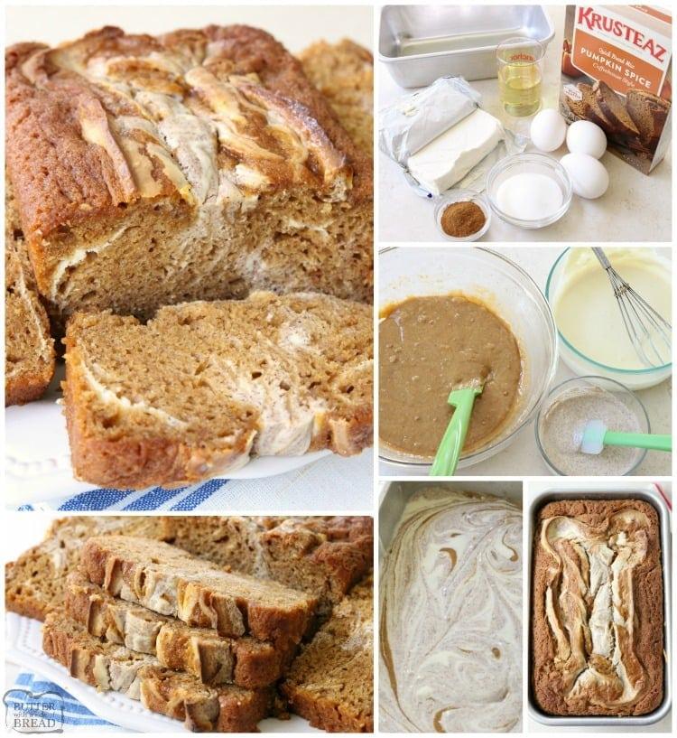 Cinnamon Swirl Pumpkin Bread is a delightful twist on a classic that incorporates a sweet cream cheese and cinnamon swirled into a soft pumpkin bread.