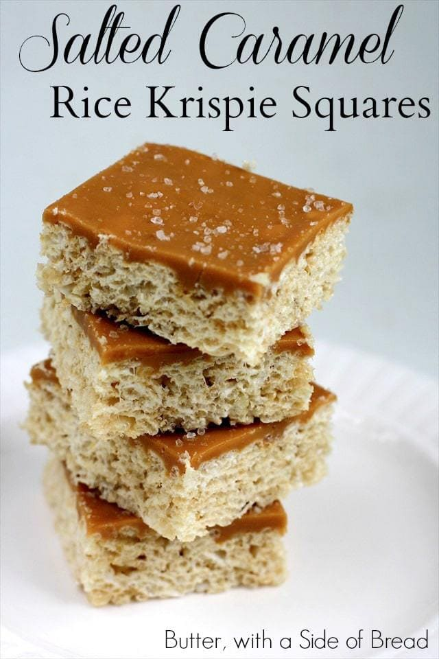 Salted Caramel Rice Krispie Squares   Fun And Yummy Rice Krispie Treats