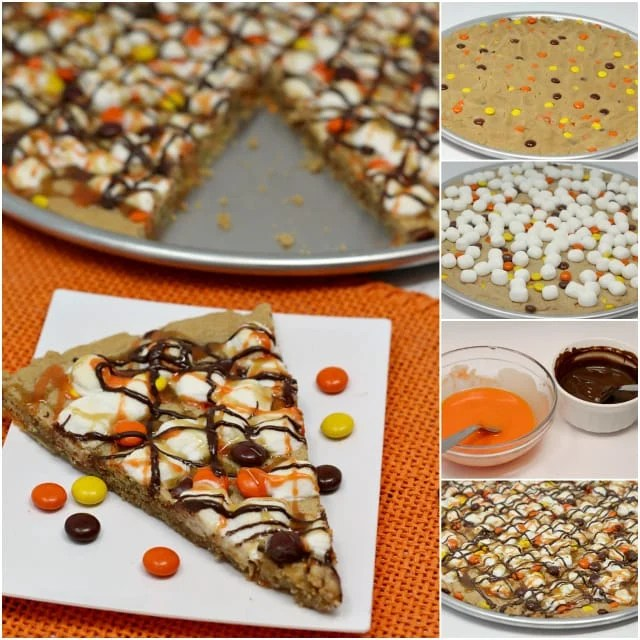 HALLOWEEN PEANUT BUTTER COOKIE PIZZA - Butter with a Side ...